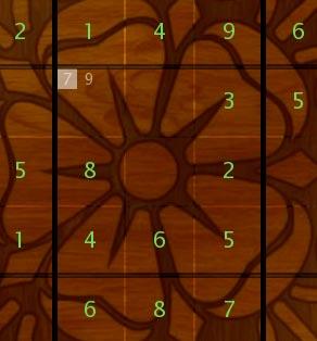 Sudoku choose 7